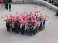 Флешмоб с воздушными шарами