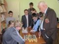 Сеанс одновременной игры в шахматы с ветераном Великой Отечественной войны